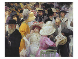 Friday at the French Artists' Salon, 1911 (Oil on Canvas (Detail of 64809) Giclee Print by Jules Alexandre Gruen