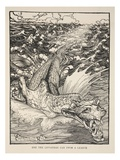 Ere the Leviathan Can Swim a League, Illustration from 'Midsummer Nights Dream' Giclee Print by Arthur Rackham