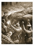 Sergeant Coxon Shoots Two of a Party of Three Germans Who Had Attacked Him During an Attack Giclee Print by W. Avis
