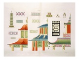 Chinese Pagoda Design (Colour Litho) Giclee Print by  Italian