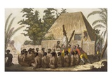 An Offering before Captain Cook, Acknowledging Him as an Incarnation of the God Lomo, January 1779 Giclee Print by C. Bottigella