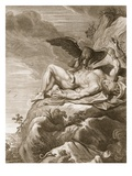 Prometheus Tortured by a Vulture, 1731 (Engraving) Giclee Print by Bernard Picart