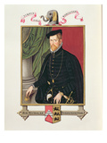 Portrait of Sir Nicholas Throckmorton (1515-71) from 'Memoirs of the Court of Queen Elizabeth' Giclee Print by Sarah Countess Of Essex