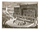 Theatre of Dionysus at Athens (Litho) Giclee Print by  English