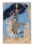 Broken Hearts, Broken Statues, Illustration for 'Fetes Galantes' by Paul Verlaine (1844-96) Giclee Print by Georges Barbier