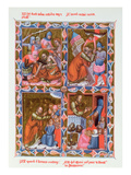 Scenes from the Life of Saint Paul, Facsimile of a 15th Century Manuscript Giclee Print by  French