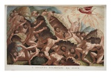 The War of the Giants Against Jove, Book I, Illustration from Ovid's Metamorphoses, Florence, 1832 Giclee Print by Luigi Ademollo