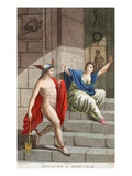 Aglauros into a Stone, Illustration from Ovid's Metamorphoses, Florence, 1832 Giclee Print by Luigi Ademollo