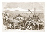 St. Mary's Island: the Convicts at Labour, Illustration from 'The Illustrated London News' Giclee Print by  English