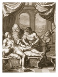 Telephus Cured by the Rust of the Same Spear Which Wounded Him, 1731 (Engraving) Giclee Print by Bernard Picart