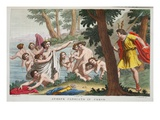 Actaeon into a Stag, Illustration from Ovid's Metamorphoses, Florence, 1832 Giclee Print by Luigi Ademollo