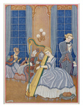 Valmont Seducing His Victim, Illustration from 'Les Liaisons Dangereuses' Giclee Print by Georges Barbier