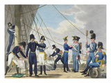 The New Imperial Royal Austrian Navy after the Napoleonic Wars, C.1820 (Colour Litho) Giclee Print by Phillip Von Stubenrauch