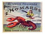 Advertisement for Cough Sweets &#39;Z&#39;Homards&#39;, Late Nineteenth Century (Colour Litho) Giclee Print by  French