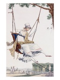 Summer Dress (Coloured Engraving) Giclee Print by Philibert Louis Debucourt
