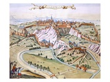 Luxembourg, the Capital of the Duchy, 1649 (Hand-Coloured Engraving) Gicléedruk van Joan Blaeu
