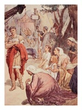 Coriolanus and the Matrons of Rome, Illustration from 'Plutarch's Lives for Boys and Girls' Giclee Print by William Rainey