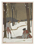 The Duel Between Valmont and Danceny, Illustration from 'Les Liaisons Dangereuses' Giclee Print by Georges Barbier