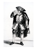 The Costume of Arnolphe, from 'The School for Wives' by Moliere (Engraving) Giclee Print by  French