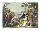 The Sabine Women, Illustration from 'L'Antique Rome', Engraved by Labrousse, Published 1796 Giclee Print by Jacques Grasset de Saint-Sauveur