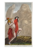 Atlas into a Mountain, Book IV, Illustration from Ovid's Metamorphoses, Florence, 1832 Giclee Print by Luigi Ademollo