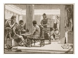 The Romans at Corinth (Litho) Giclee Print by  English