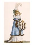 Robe a L'Anglaise, Chapeau a La Theadore, Plate from 'Galeries Des Modes Et Costumes Francais' Giclee Print by Jean Florent Defraine