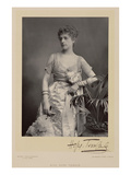 Miss Hope Temple, Portrait Photograph (B/W Photo) Giclee Print by Stanislaus Walery