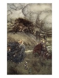 And Now They Never Meet in Grove or Green, by Fountain Clear or Spangled Starlight Sheen Giclee Print by Arthur Rackham