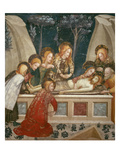 Jesus in the Tomb with the Apostles and His Mother (Fresco) Giclee Print by Ferrer Bassa