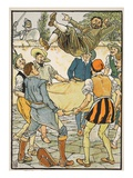How Sancho Paid the Reckoning, Illustration from 'Don Quixote of the Mancha' Retold by Judge Parry Giclee Print by Walter Crane