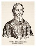 Nicholas De Malebranche (Litho) Giclee Print by Nicolas Etienne Edelinck