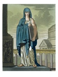 Sybil, Illustration from 'L'Antique Rome', Engraved by Labrousse, Published 1796 (Colour Litho) Giclee Print by Jacques Grasset de Saint-Sauveur