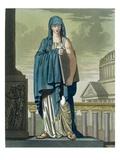 Sybil, Illustration from 'L'Antique Rome', Engraved by Labrousse, Published 1796 (Colour Litho) Giclee Print by Jacques Grasset de Saint-Sauveur
