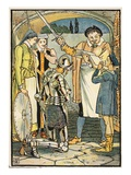 The Knighting of Don Quixote, Illustration from 'Don Quixote of the Mancha' Retold by Judge Parry Giclee Print by Walter Crane