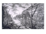 View of the Port of Ripa Grande Giclee Print by Giovanni Battista Piranesi