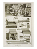 A Bakery and Baking Equipment, from the 'Encyclopedie Des Sciences Et Metiers' Premium Giclee Print by  French