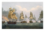 Lord Bridport&#39;s Action Off Port L&#39;Orient, June 23rd 1795 Giclee Print by Thomas Whitcombe