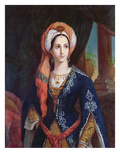 Portrait of the Actress Mlle Rachel in the Role of Roxanne for the Play, Bajazet by Jean Racine Giclee Print by  French