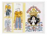Zodiac Symbols, from 'The History and Doctrine of Buddhism' by Edward Upham, 1829 (Colour Litho) Giclee Print by  English