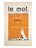 Front Cover of 'Le Mot' Magazine, December 1914 (Colour Litho) Giclee Print by Paul Iribe