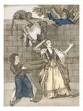 Slight of Hand by a Monkey or the Lady's Head Unloaded, from an Original Drawing by Grimm Giclee Print by  English