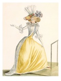 Collerette a La Henri IV, Plate from &#39;Galeries Des Modes Et Costumes Francais&#39;, C.1778-87 Giclee Print by Jean Florent Defraine