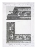 Interior Frieze and Cornice of the Temple of Aesculapius Giclee Print by Robert Adam