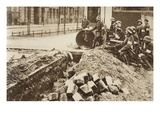 Government Troops Who Had Seized a Spartacist Trench in the Frankfurter Allee, Berlin, 1914-19 Giclee Print by  German photographer