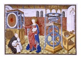Wisdom (Sapience) Teaching the Author the Precepts of Temperance Giclee Print by  Master of Jean Rolin II