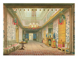 The Corridor or Long Gallery in its Final Phase, from 'Views of the Royal Pavilion, Brighton' Giclee Print by  English