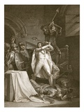 Death of Richard Ii, Engraved by A. Smith Giclee Print by Francis Wheatley