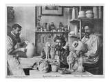 The Martin Brothers in the Studio at the Southall Pottery (B/W Photo) Giclee Print by  English Photographer
