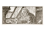 French Scientist (Litho) Giclee Print by  French